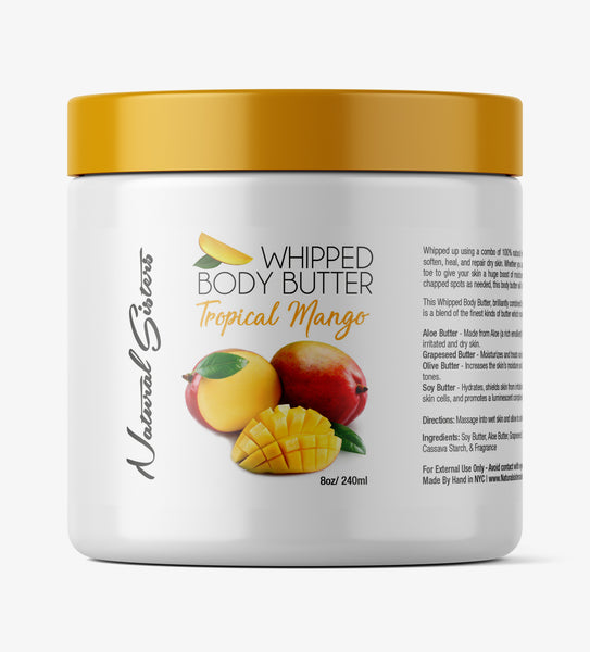 Tropical Mango Whipped Body Butter -  8oz