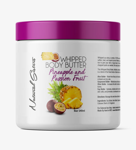 Pineapple & Passion Fruit Whipped Body Butter -  8oz