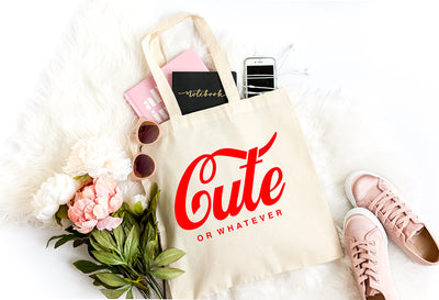 Cute or Whatever Coke Logo Inspired | Tote Bag - Made in NYC
