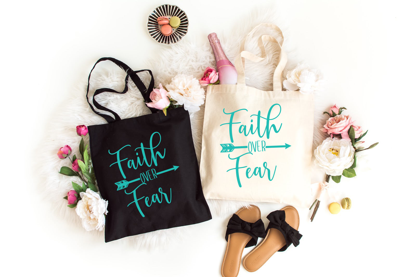 Faith over Fear Christian Tote Bag : Made in NYC