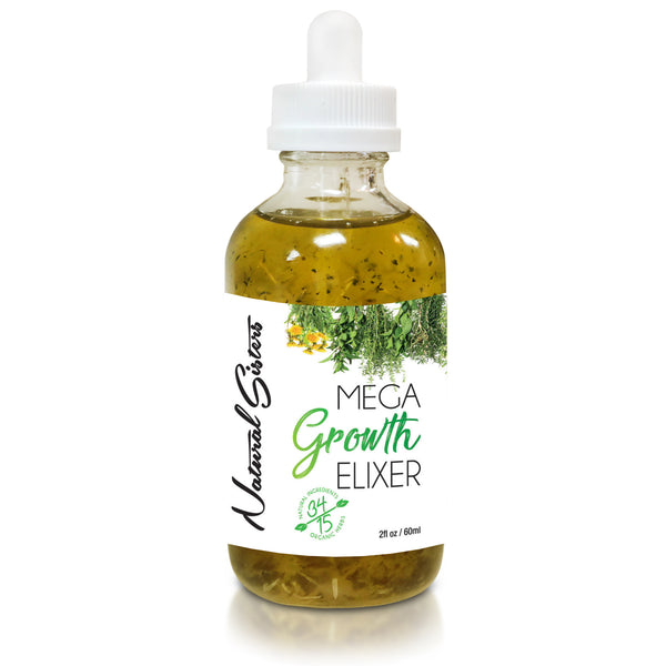 Mega Growth Hair Elixir (Large) 4 oz -Hair Growth Formula & Scalp Treatment