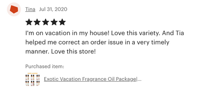 Exotic Vacation Fragrance Oil 6-Pack