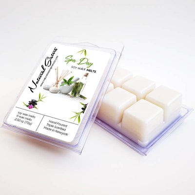 Spa Day Fragranced Soy Wax Melts and Tarts - Concentrated Fragrance Oils | Non Toxic- Handmade in NYC- 6pc /2.5oz as packed