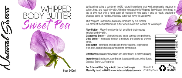 Sweet Pea Whipped Body Butter