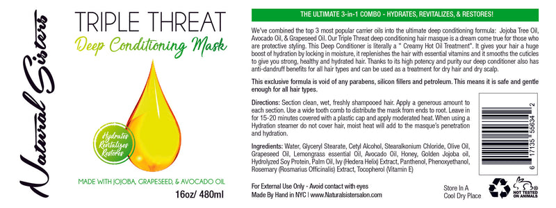 Creamy Hot Oil Triple Threat Deep Conditioning Hair Masque