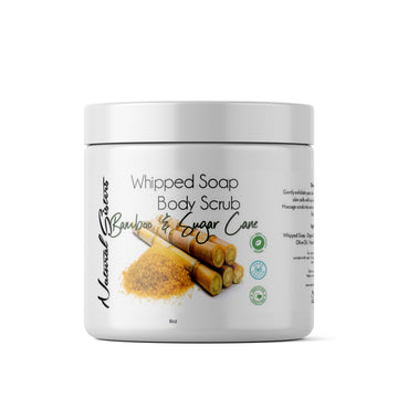 Bamboo and Sugar Cane Whipped Soap and Body Scrub | 4oz/8oz | All Natural- Handmade in NYC