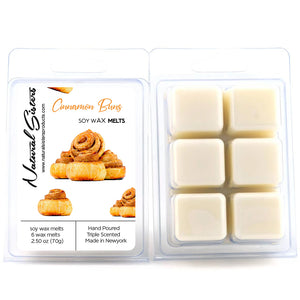 Cinnamon Buns Fragranced Soy Wax Melts and Tarts - Concentrated Fragrance Oils | Non Toxic- Handmade in NYC- 6pc /2.5oz as packed