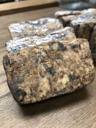 African Black Soap Bar 100% Raw Pure From Ghana