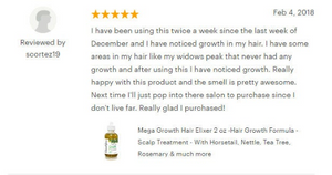 Pack of Custom-Label Mega Growth Hair Elixir With Organic Herbs & Essential Oils – Scalp Treatment Simulator - Handmade in NYC