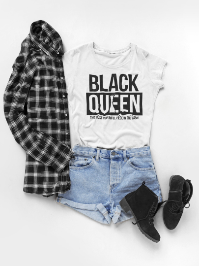 Black Queen T-Shirt Crew Neck Made in NYC