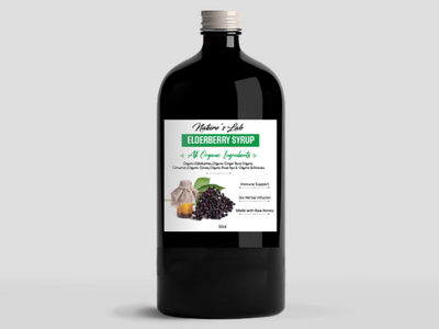 Organic Elderberry Syrup (Sambucus nigra) by Nature's Lab - Handmade and Hand-poured in NYC