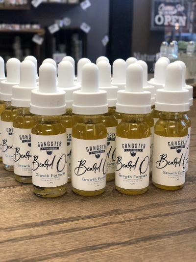 Gangster & Gentleman by Natural Sisters - Beard Oil | 100% Pure and Natural Growth Formula 0.5 oz/1 oz - Handmade in NYC