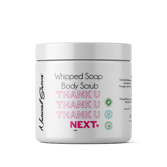 Thank You Next Whipped Soap and Body Scrub | 8oz | All Natural- Handmade in NYC