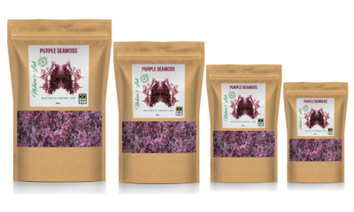 Organic Purple Sea Moss (sun dried) - Made of 100% Pure Wild-Harvested Sea Moss