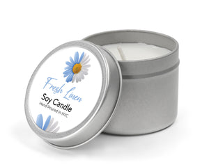 Fresh Linen Candle Tin | Candle Tin Fresh Linen 8 oz