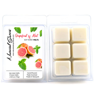 Grapefruit and Mint Fragranced Soy Wax Melts and Tarts