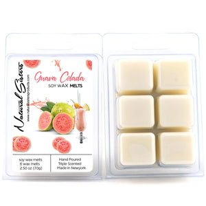Guava Colada Fragranced Soy Wax Melts and Tarts - Concentrated Fragrance Oils | Non Toxic- Handmade in NYC- 6pc /2.5oz as packed