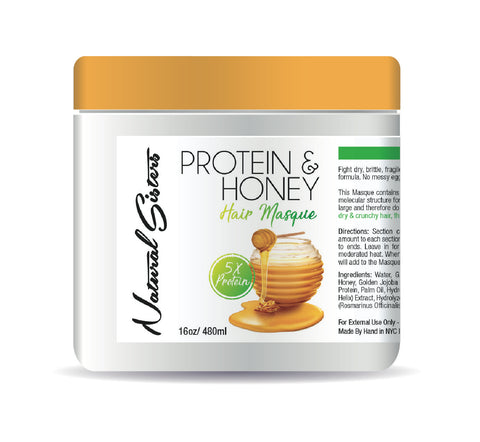 Protein and Honey Deep Conditioning Hair Masque - natural hair -Honey hair mask