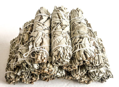 White Sage Smudge Bundles for Smudging, Meditation, Cleansing, Blessing,  &Negativity Clearing
