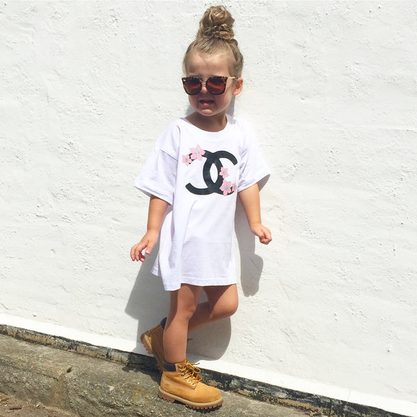 White Life is gucci tshirt dress