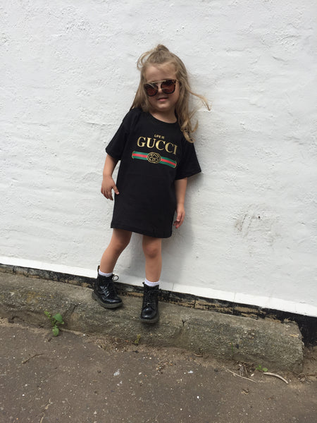 Black Life is gucci tshirt dress
