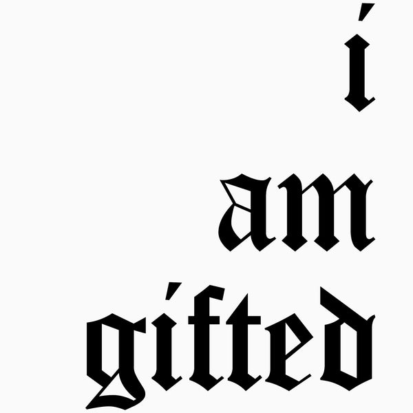 I am Gifted Sweater Dress