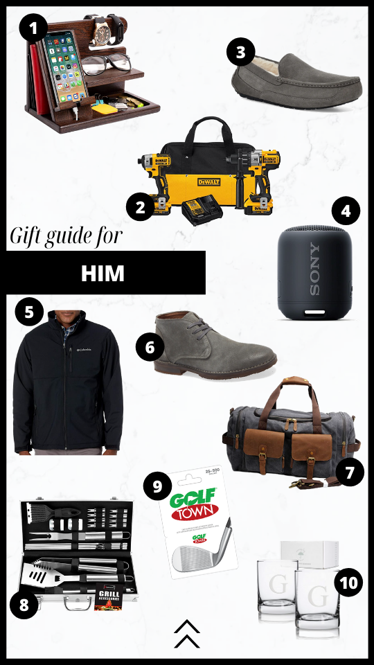 Gift guide for him.