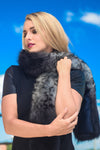 Animal Print Fox-Fur Scarf