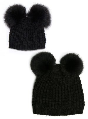 Mommy & Me Set Classic Double Pom/Classic Double Pom