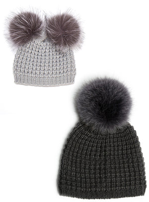 Mommy & Me Set Classic/Classic Double Pom