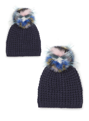 Mommy & Me Set Classic Multi Color Pom