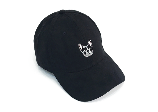Frenchie Black Suede Cap