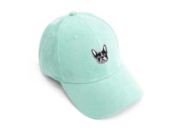 Frenchie Green Suede Cap