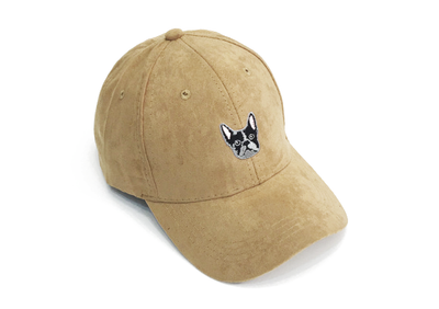 Frenchie Nude Suede Cap