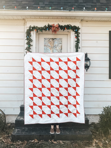 elma ruth red and white quilt