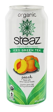 steaz lightly sweetened green tea