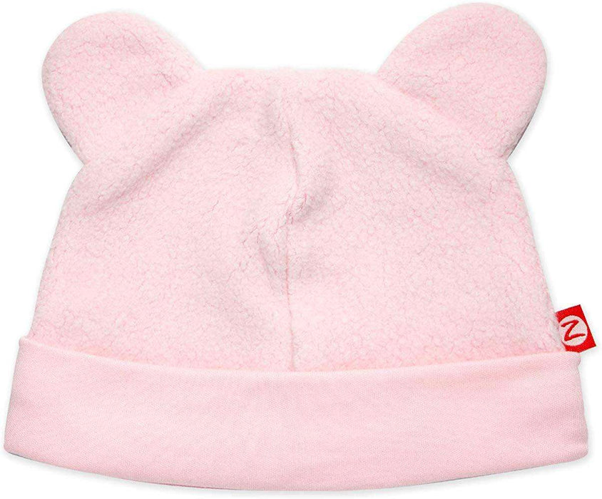 Baby Pink Cozie Fleece Hat
