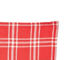 Red and Cream Large Plaid Tea Towel