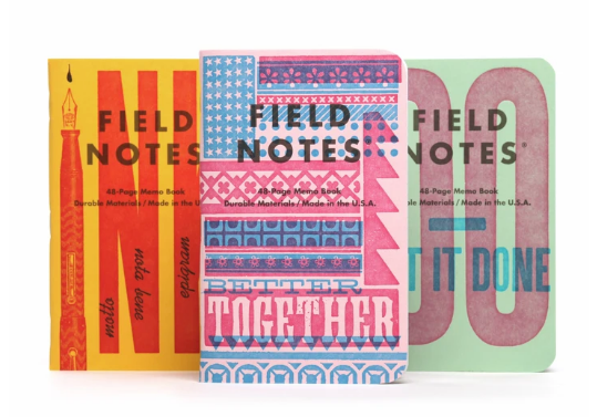 Field Notes United States of Letterpress - Series B