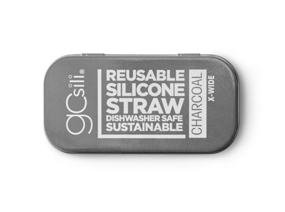 Charcoal Extra Wide Travel Straw
