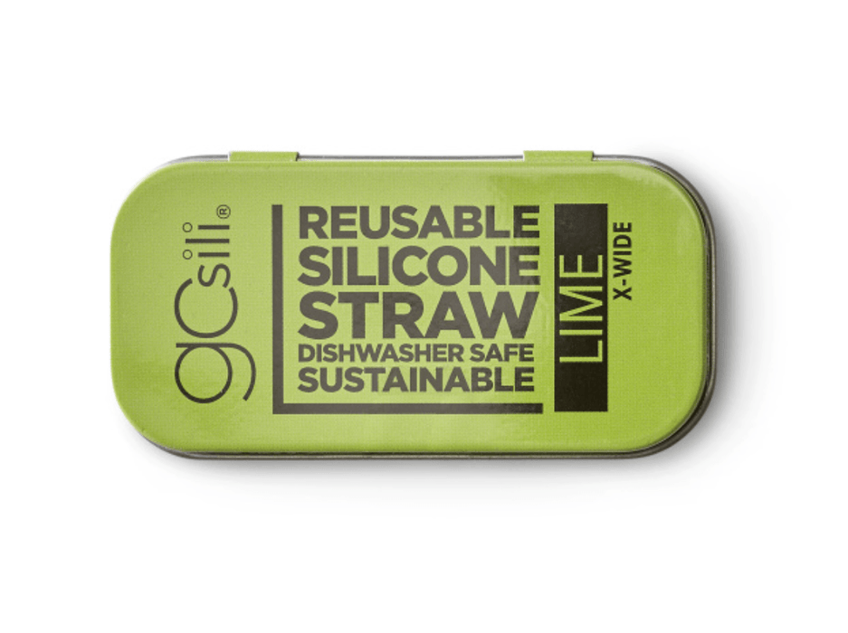 Lime Extra Wide Travel Straw