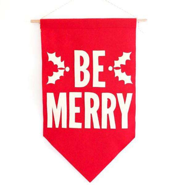 Be Merry Christmas Banner - Needle and Grain