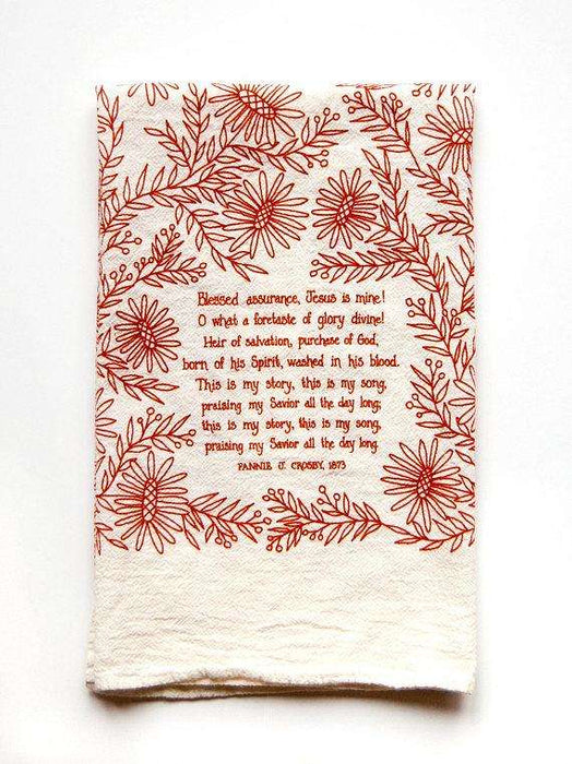 Blessed Assurance Kitchen Towel