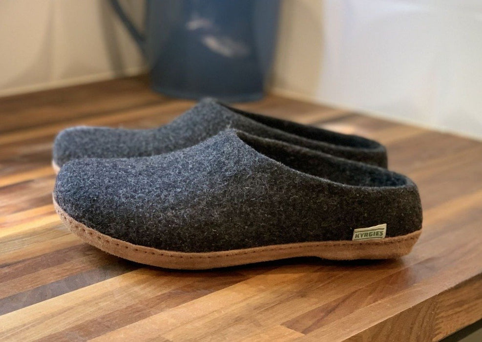 Low Back Charcoal Slippers