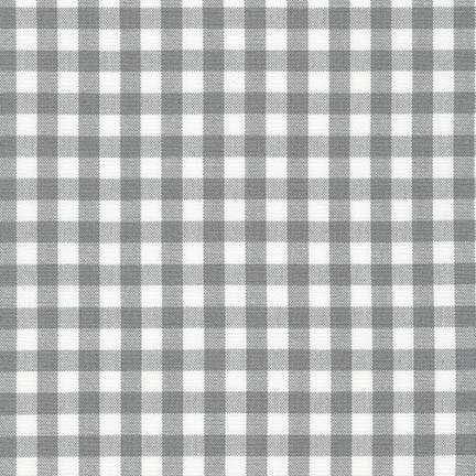 Gray Carolina Yarn Dyed 1/4 Inch Gingham