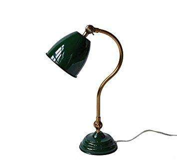 Green Metal Desk Lamp - Needle and Grain