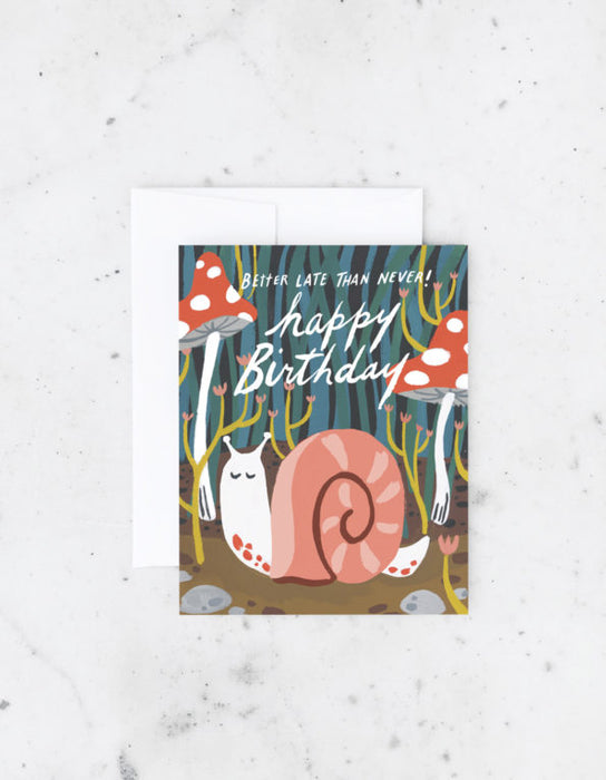 Belated Snail Card
