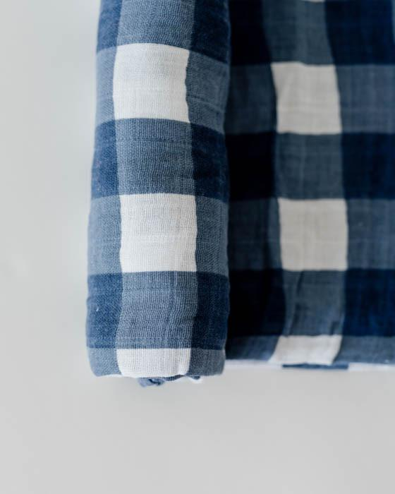 Jack Plaid Muslin Swaddle
