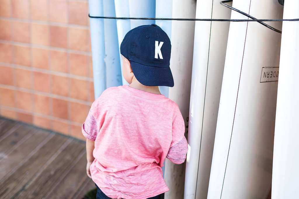Navy Initial Baseball Hat