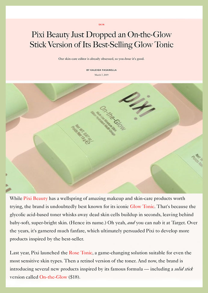 Allure: Pixi Beauty Just Dropped an On-the-Glow Stick Version of Its Best-Selling Glow Tonic